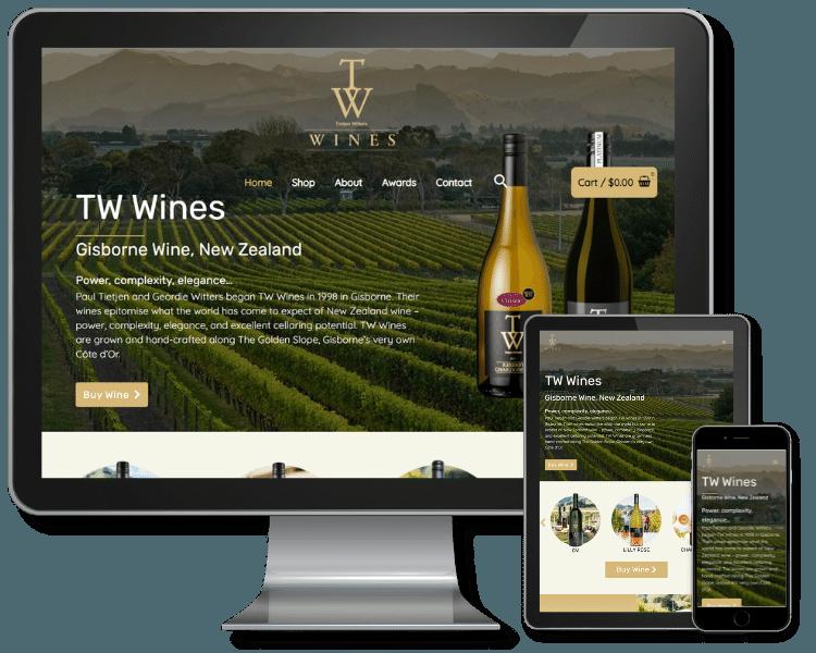 New Website Build - TW Wines
